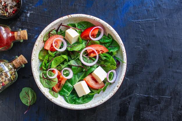 Греческий салат овощи сыр вегетарианская закуска