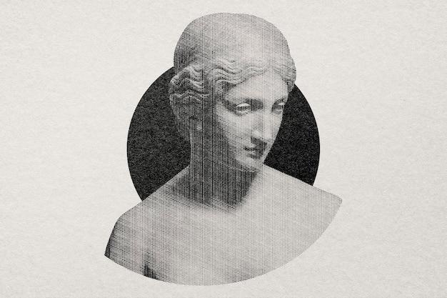 Греческая статуя в стиле гравюры