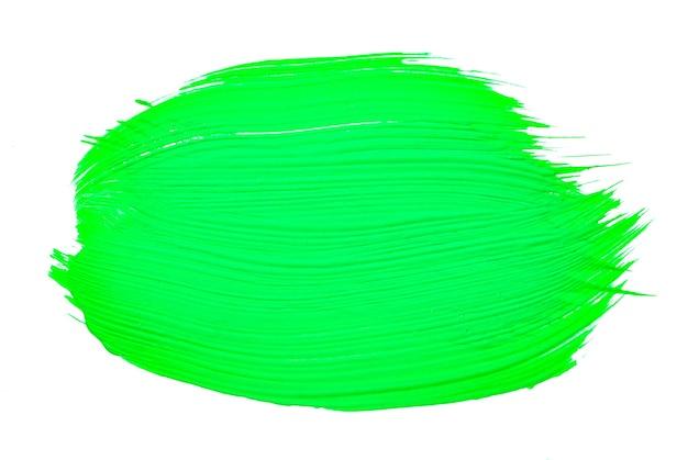 緑の抽象的なアクアレル水彩背景。カラフルな緑のアクリル水彩ブラシストローク。