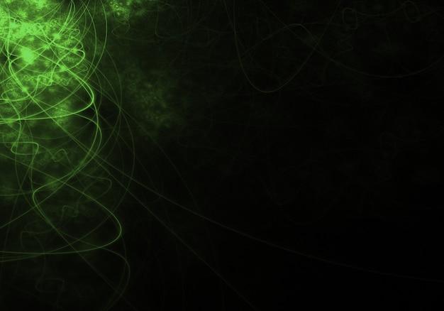 Sfondo verde astratto con linee ondulate
