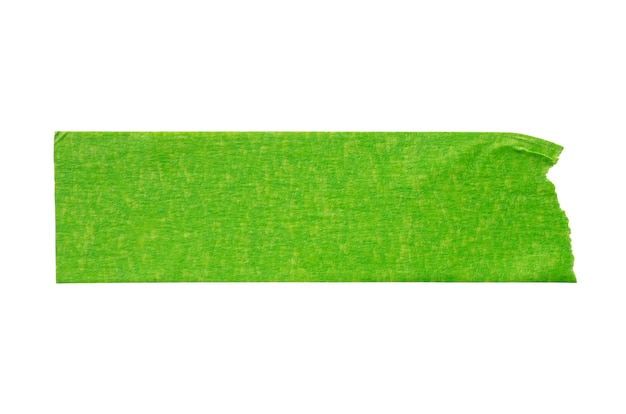 흰색 배경에 고립 된 녹색 접착 종이 테이프