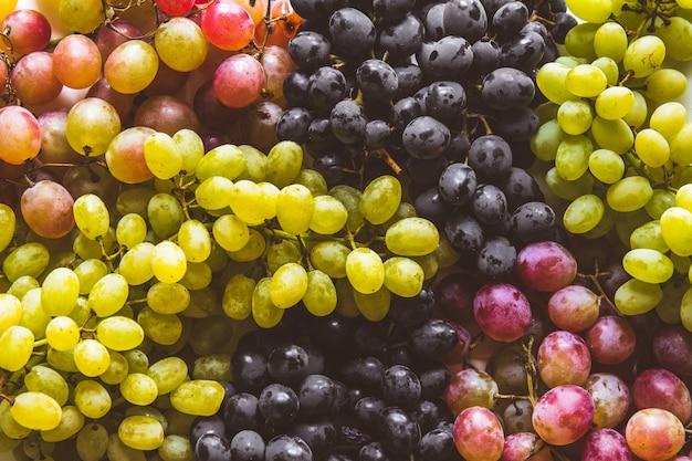 Фрукты зеленого и красного винограда