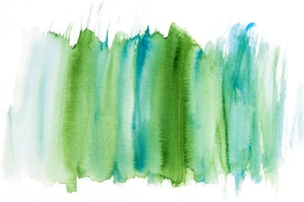 Green and turquoise watercolor brush stroke