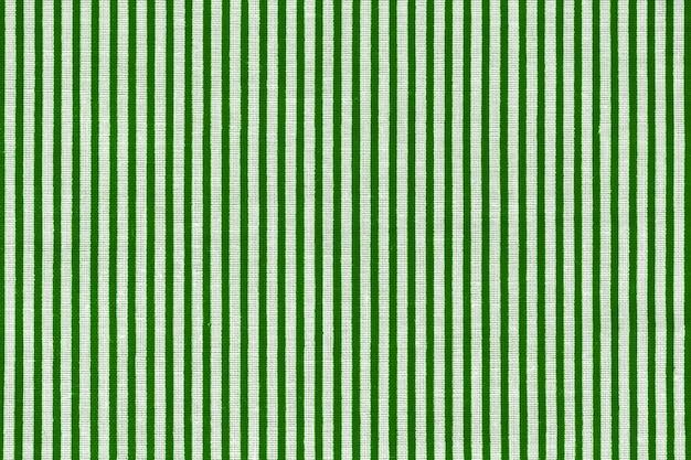 緑と白の縞模様の生地の質感。