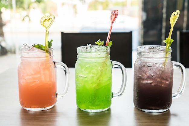 Green apple ,blueberry ,lychee soda