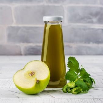 Green apple celery juice