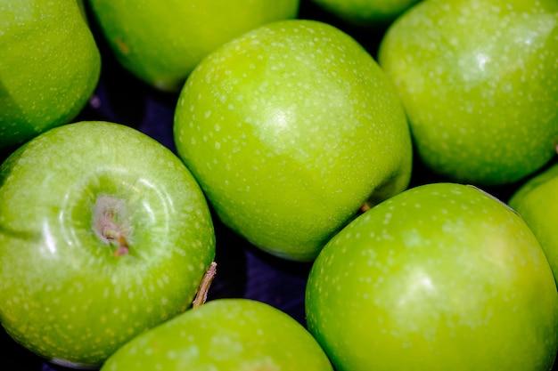 Green apple fruit on maket