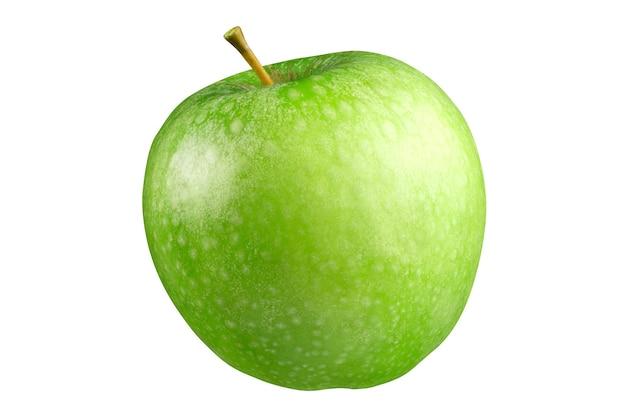 白の背景に分離された青リンゴ。完全な被写界深度。クリッピングマスク。
