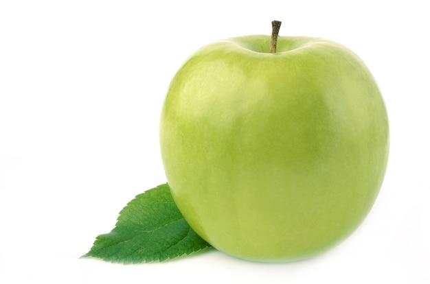 그린 애플은 흰색 절연