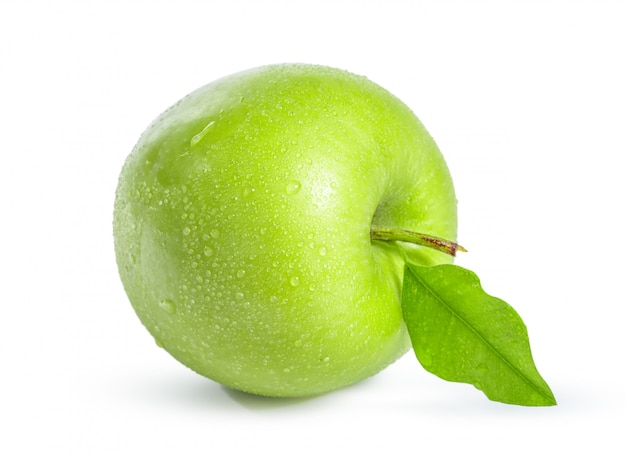Green apple, isolated on white