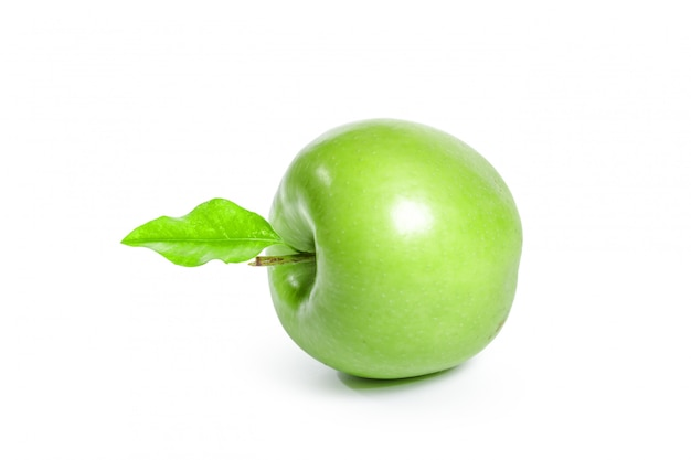 Green apple, isolated