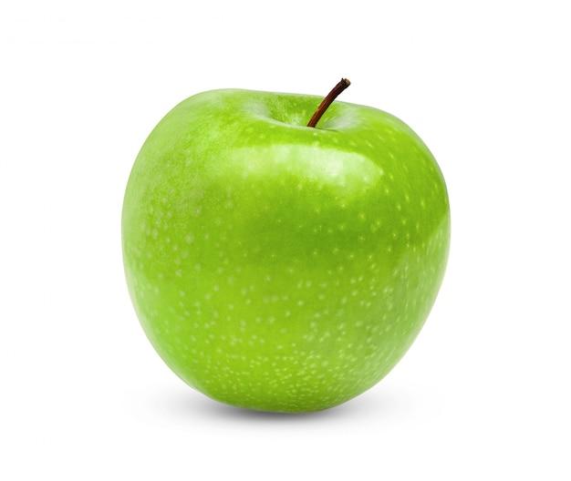 白地に青リンゴ