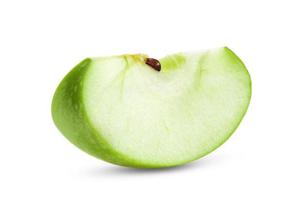 白地に青リンゴスライス
