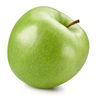Green apples isolated on white background