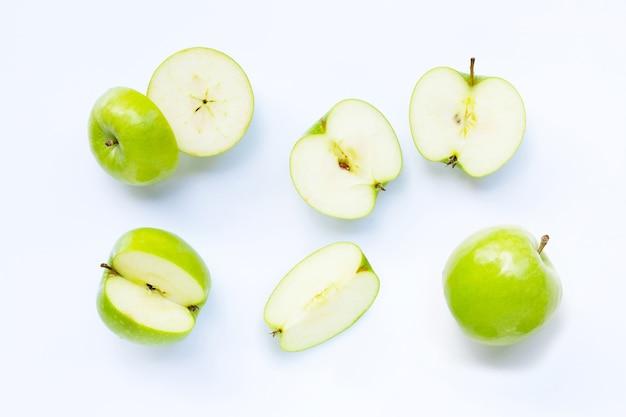 Зеленые яблоки. вид сверху