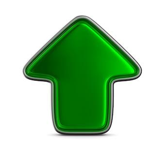 緑の矢印。分離された3dレンダリング