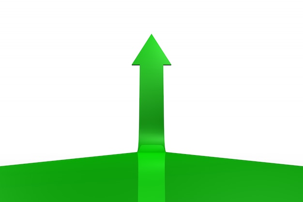 Green arrow pointing up