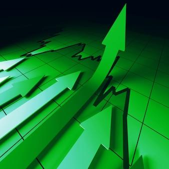 Зеленые стрелки на диаграмме отлично