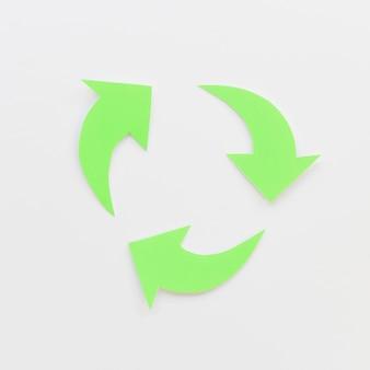 Frecce verdi che creano un ciclo
