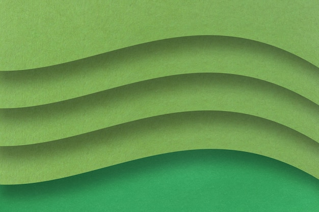 Green art paper with layers