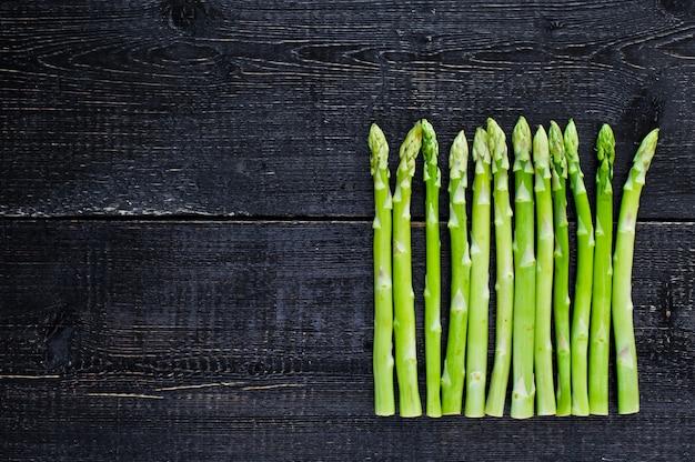 Green asparagus. copyspace