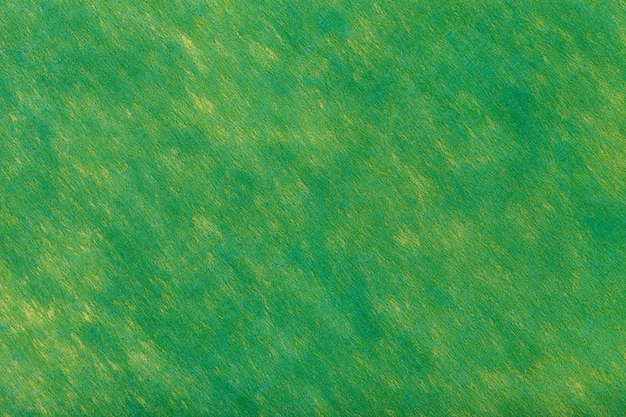 Green background of felt fabric