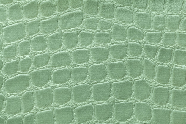 Green background from soft upholstery textile material,  fabric