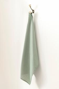 녹색 목욕 수건 가정 장식