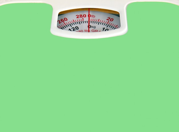 Green bathroom scale