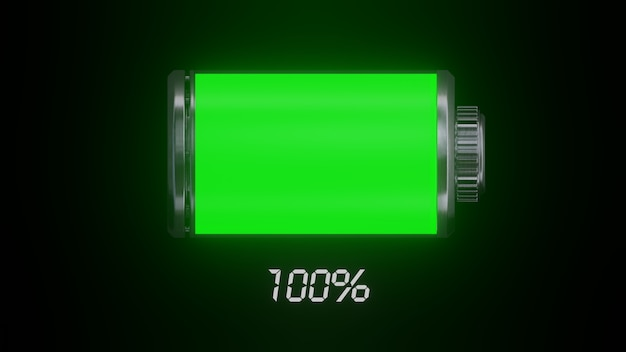 Green battery power 100%.