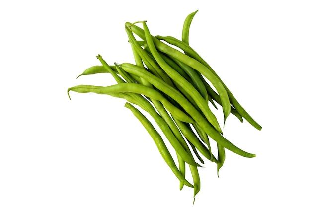 白い背景で隔離の緑豆
