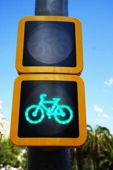 緑の自転車信号