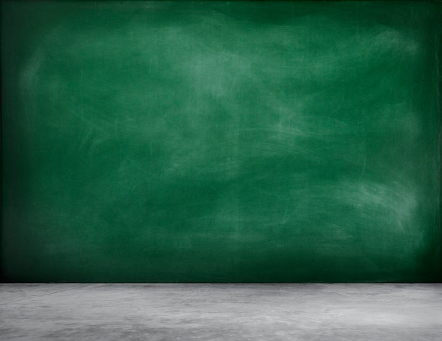 Green blackboard background with chalk
