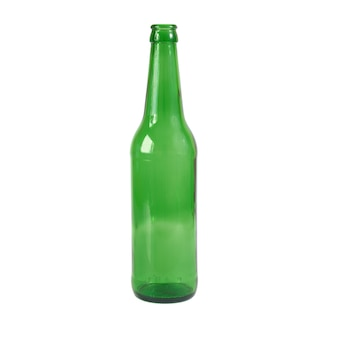 Green bottle isolated on the white background