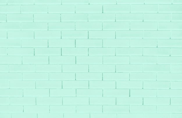 Green brick wall textured background
