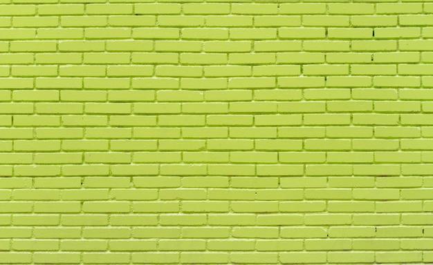 グリーンレンガの壁