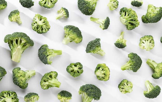 Green broccoli pattern food