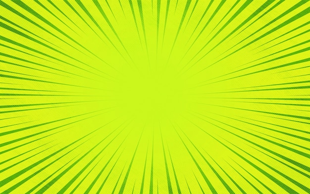 녹색 버스트 만화 줌 광선 화려한 배경