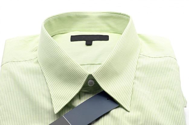 Green business shirt