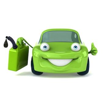 Зеленая машина - 3d персонаж