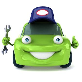 Зеленый автомобиль 3d иллюстрация