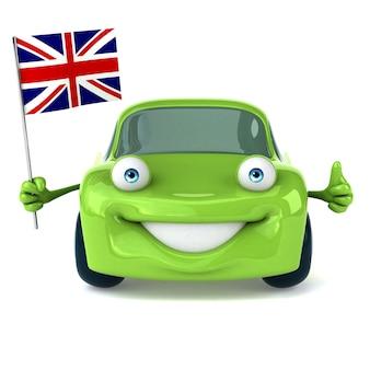 Зеленый автомобиль - 3d иллюстрация