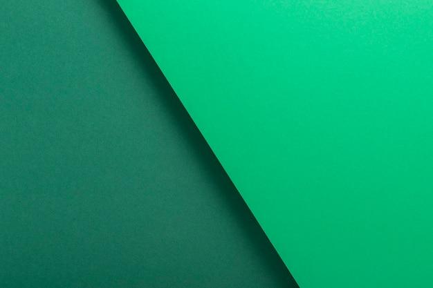 녹색 판지 배경 디자인은 기하학적으로 접혀 있습니다. 평면도, 평면도.