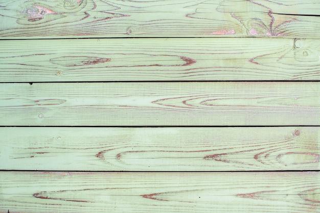 Зеленые, старые деревянные текстуры фона celadon. горизонтальные полосы, доски. шероховатость и трещины.