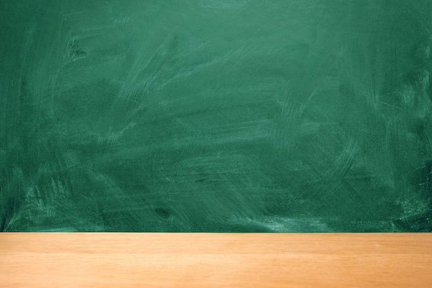 Green chalkboard background with chalk stains, copy space