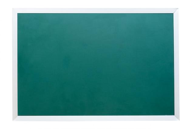 Зеленая классная доска на белом фоне