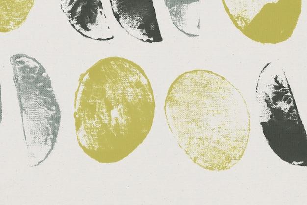 녹색 원형 패턴 배경 블록 인쇄