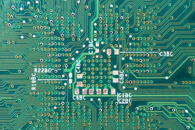 緑の回路基板の背景