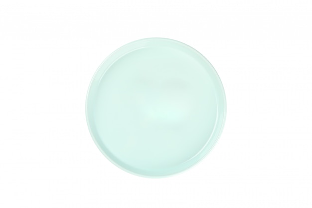 Зеленая чистая тарелка, изолированная на белом