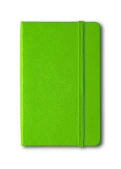 分離された緑の閉じたノート
